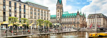 Our Hamburg office is located in the heart of Hamburg at the Inner Alster Lake.